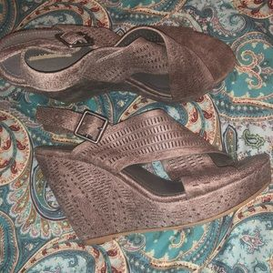 Not Rated Wedges. size 8.5. Barely worn. So cute!